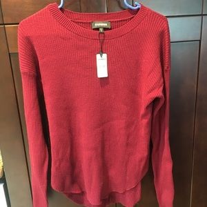 NWT Express cranberry sweater